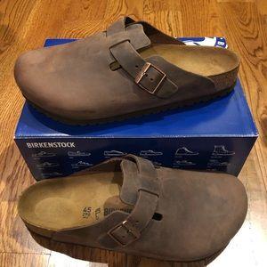 Birkenstock Boston brown leather 12 medium men's